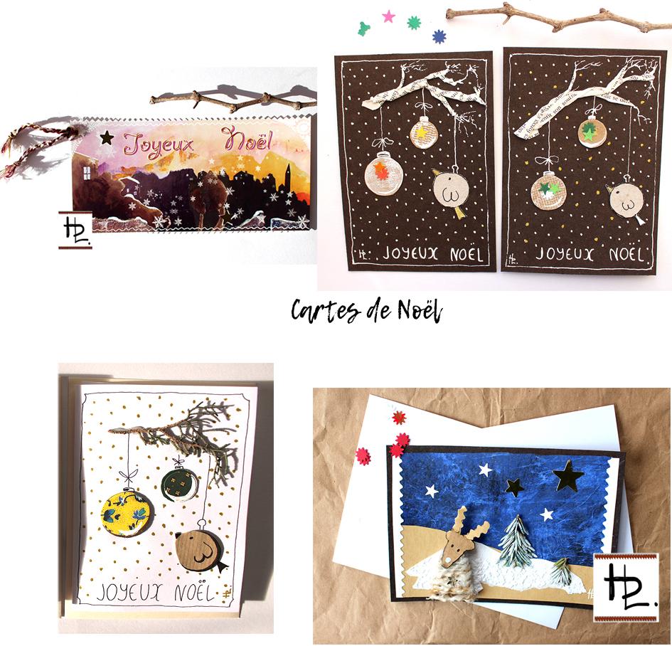 montage cartes Noel